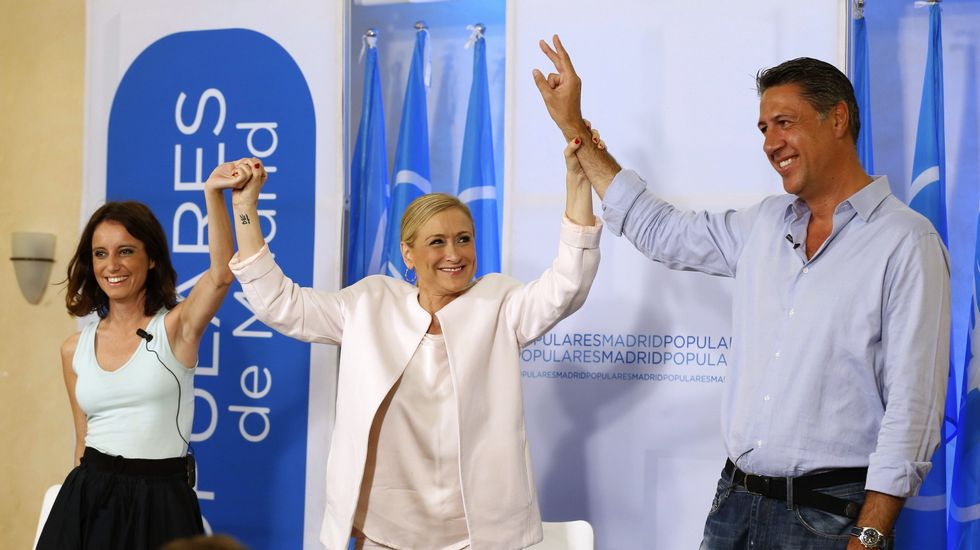 En un acto en El Escorial que compartió con Andrea Levy y Cristina Cifuentes, García Albiol aseguró a sus correligionarios del PP que en ningún caso habrá independencia de Cataluña.