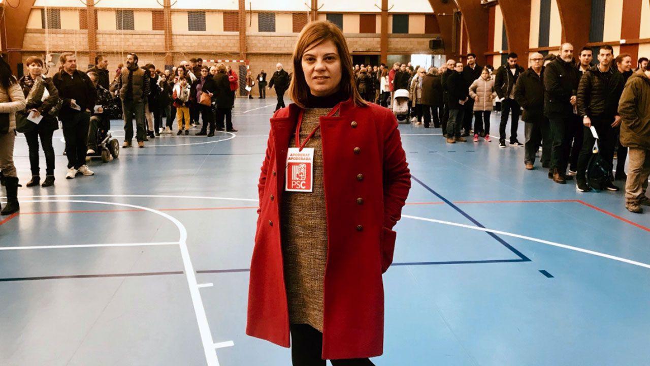 Manifestación del Primero de Mayo de 2018 en Asturias.La secretaria de Organización de la FSA, Gimena Llamedo