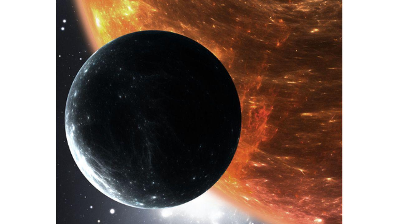 Recreación del planeta hallado en la constelación de Libra