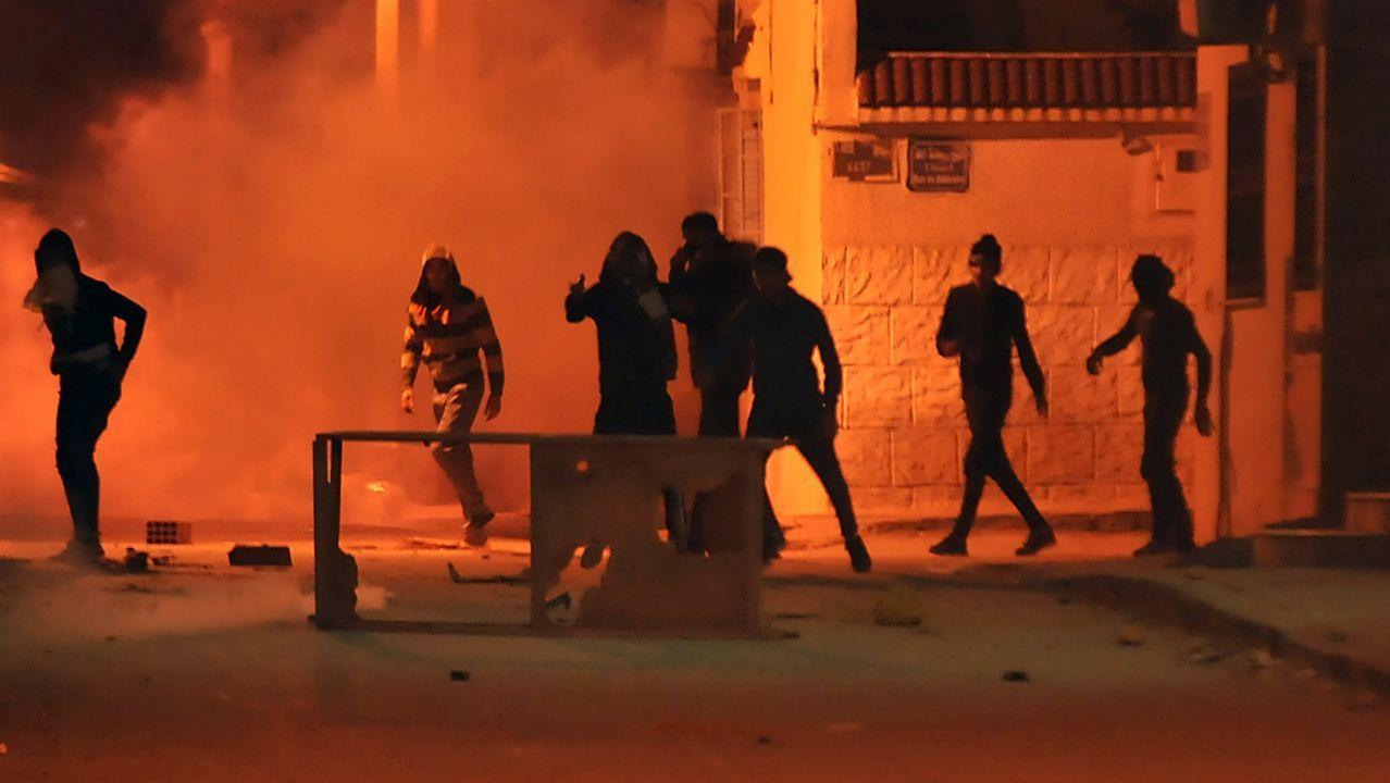 Protestas contra la austeridad del gobierno tunecino