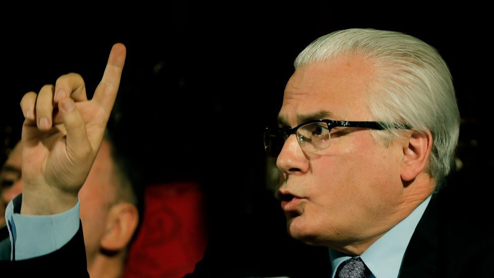 .El exjuez Baltasar Garzon durante conferencia