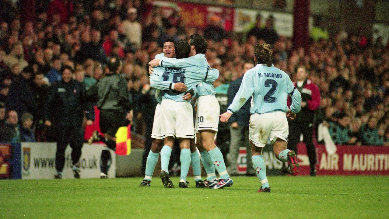 Eliminatoria frente al Aston Villa en UEFA en 1998