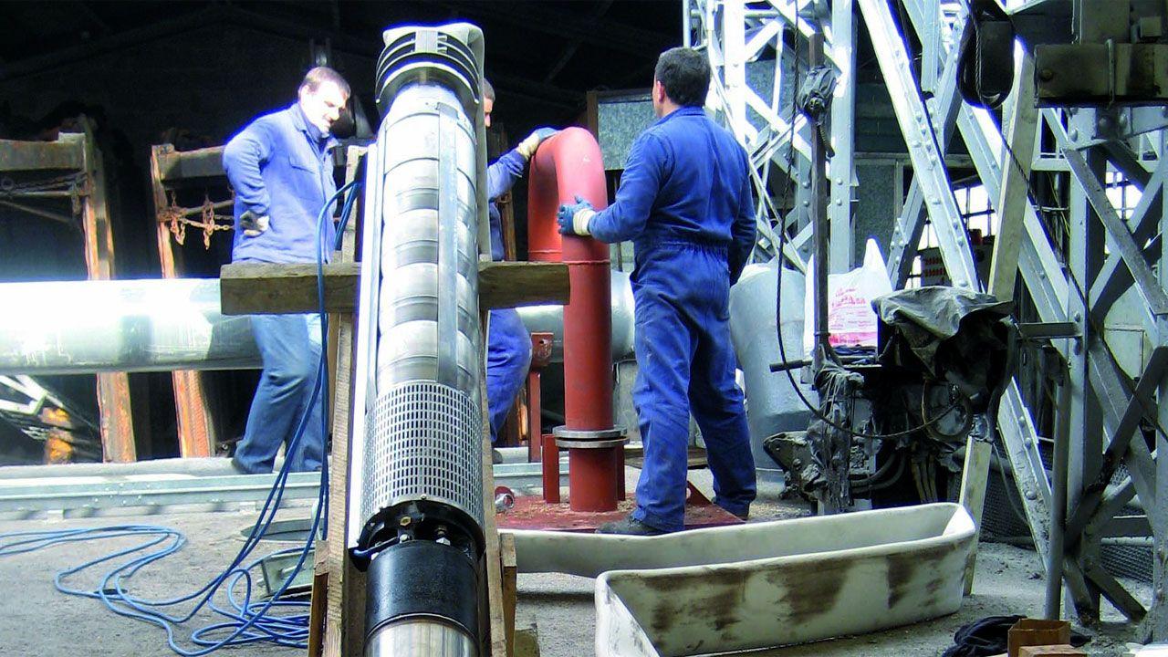 Instalacion de geotermia de Barredo