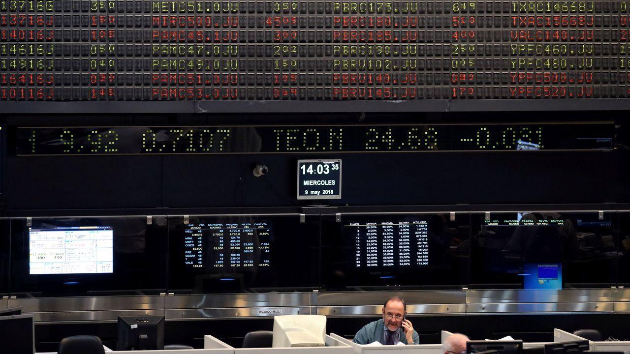 La bolsa de Buenos Aires cerró ayer con un fulgurante ascenso del 5,72% después de sufrir fuertes caídas en los últimos días por la depreciación del peso frente al dólar