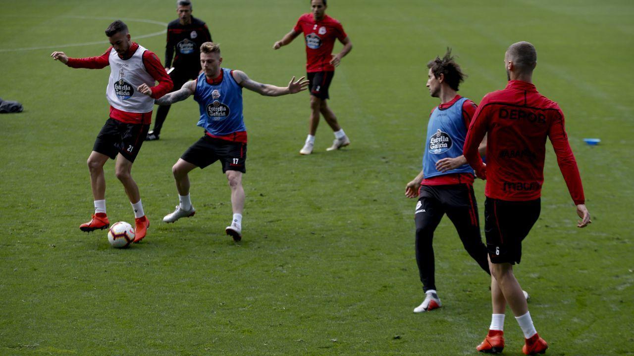 «¡Ay, Martín, qué emoción!».El Deportivo se entrenó el domingo en el estadio de Riazor