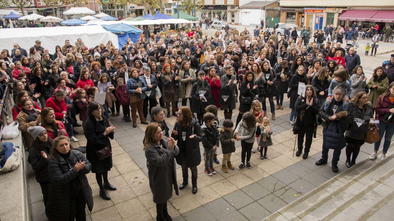 El domingo de 25N fue negro en Carballo, A Laracha o Cee