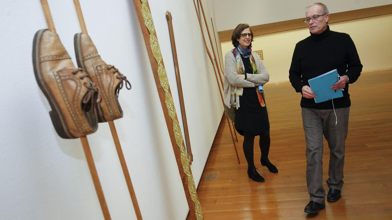 Exposición de Leonardo Da Vinci en Santiago.El compositor de origen gallego Marcos Fernández-Barrero