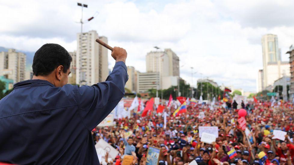 Manifestación prochavista en Caracas