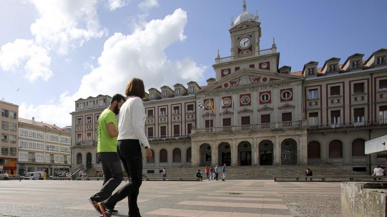 El viento que trae un temporal a Ferrol