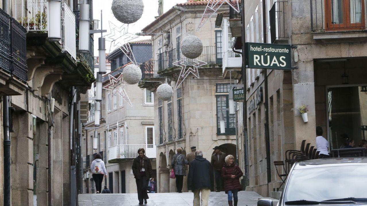 Una protesta contra la violencia de género en Ferrol
