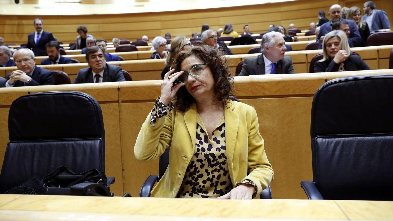 Oficina de empleo.Magdalena Valerio, ministra de Trabajo, Migraciones y Seguridad Social
