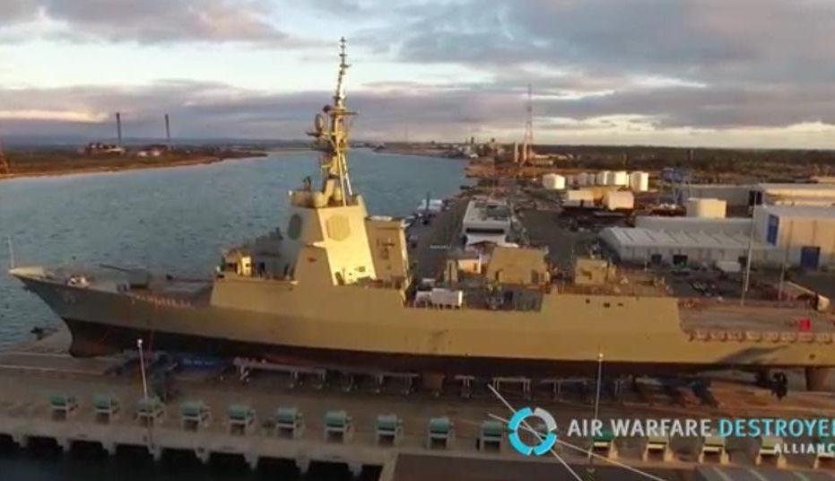 El primer destructor será puesto a flote en una ceremonia oficial en los astilleros de ASC en Adelaida.