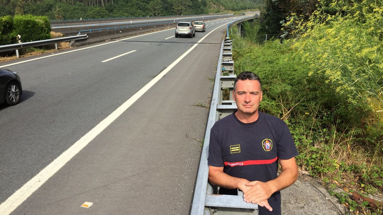 José Manuel Pérez, en el lugar donde se produjo el accidente hace casi 13 años