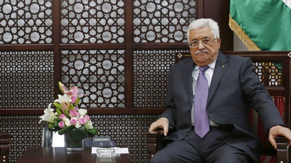 La gala solidaria con el pueblo palestino celebrada en Cee, en imágenes.El presidente palestino, Mahmud Abás