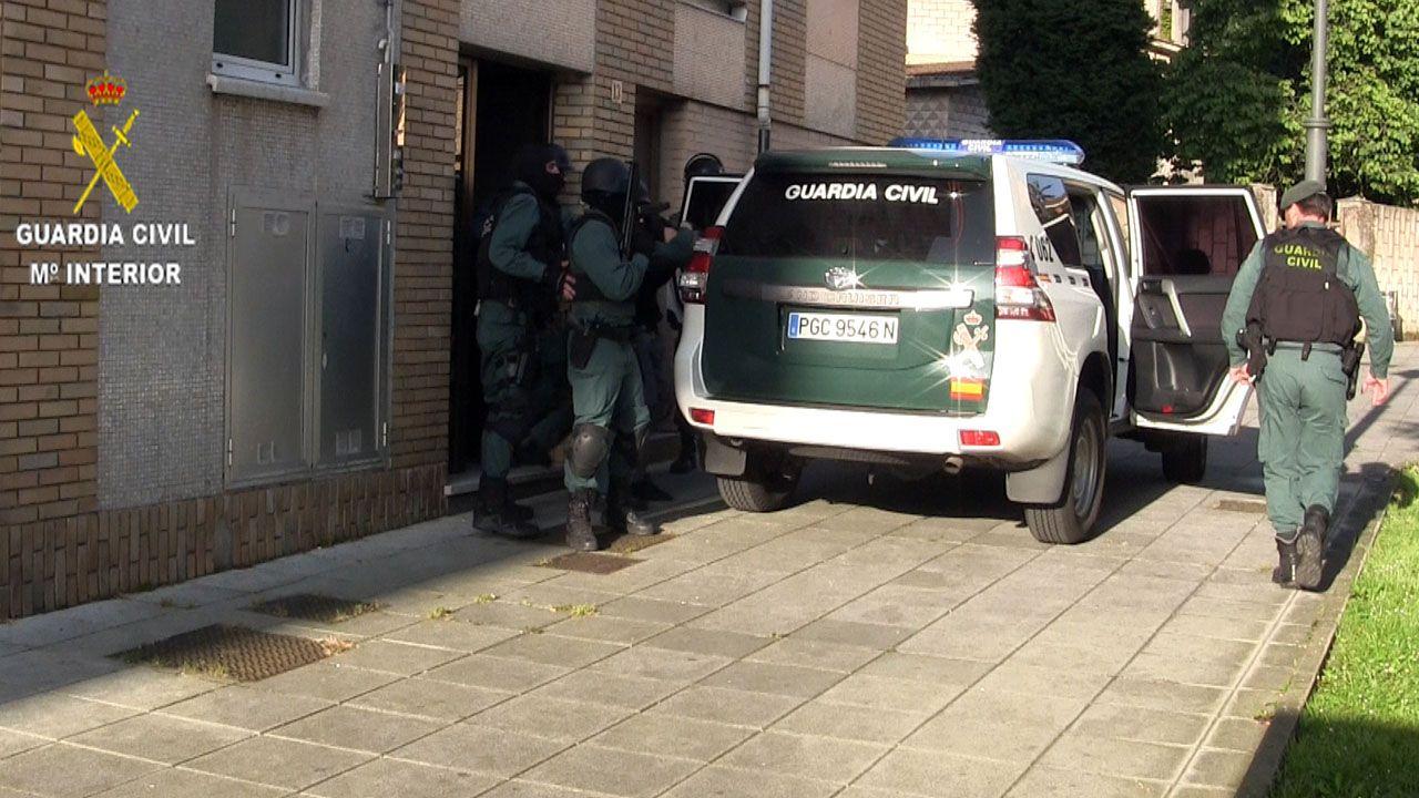 Operativo de la Guardia Civil para detener al agresor del sargento de Cancienes.