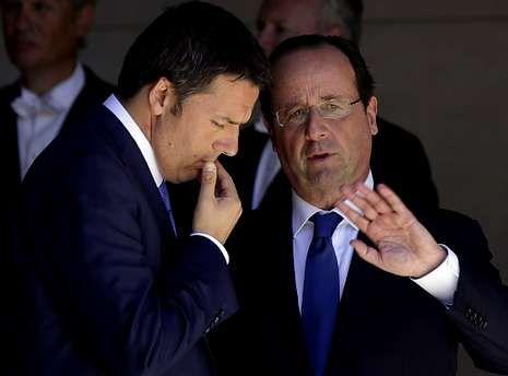 .Renzi y Hollande intentan inclinar la balanza europea del lado del crecimiento.