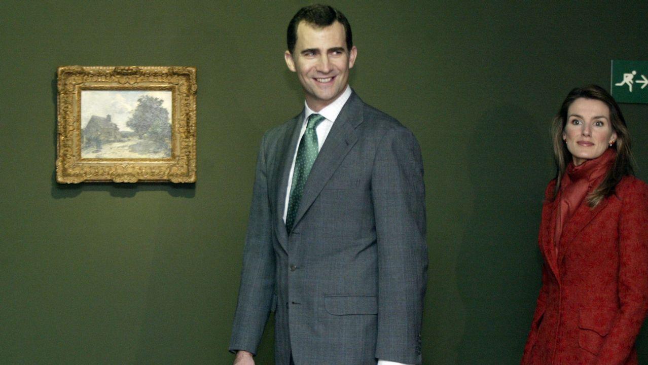 2006. Visita de los Principes de Asturias, Don Felipe y Doña Letizia a la sede de la Fundación Pedro Barrié de la Maza en Vigo