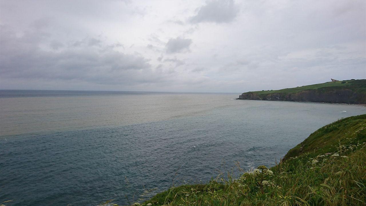monumento víctimas nazismo.La costa gijonesa afectada por residuos