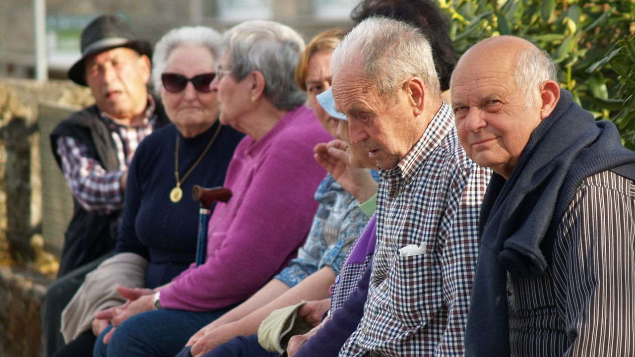 Jubilados asturianos en las protestas de Bilbao