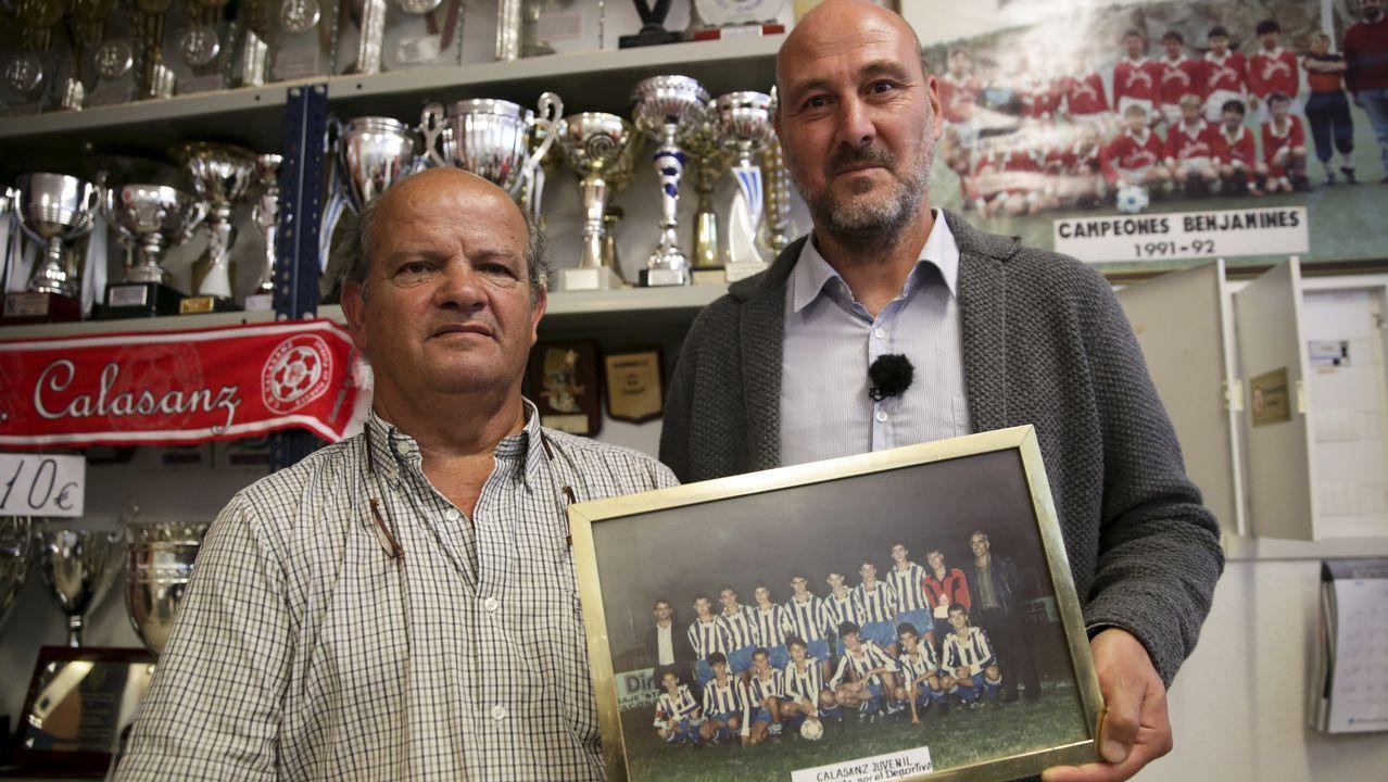 A martillazos con el vestuario del árbitro en el Laracha - Negreira