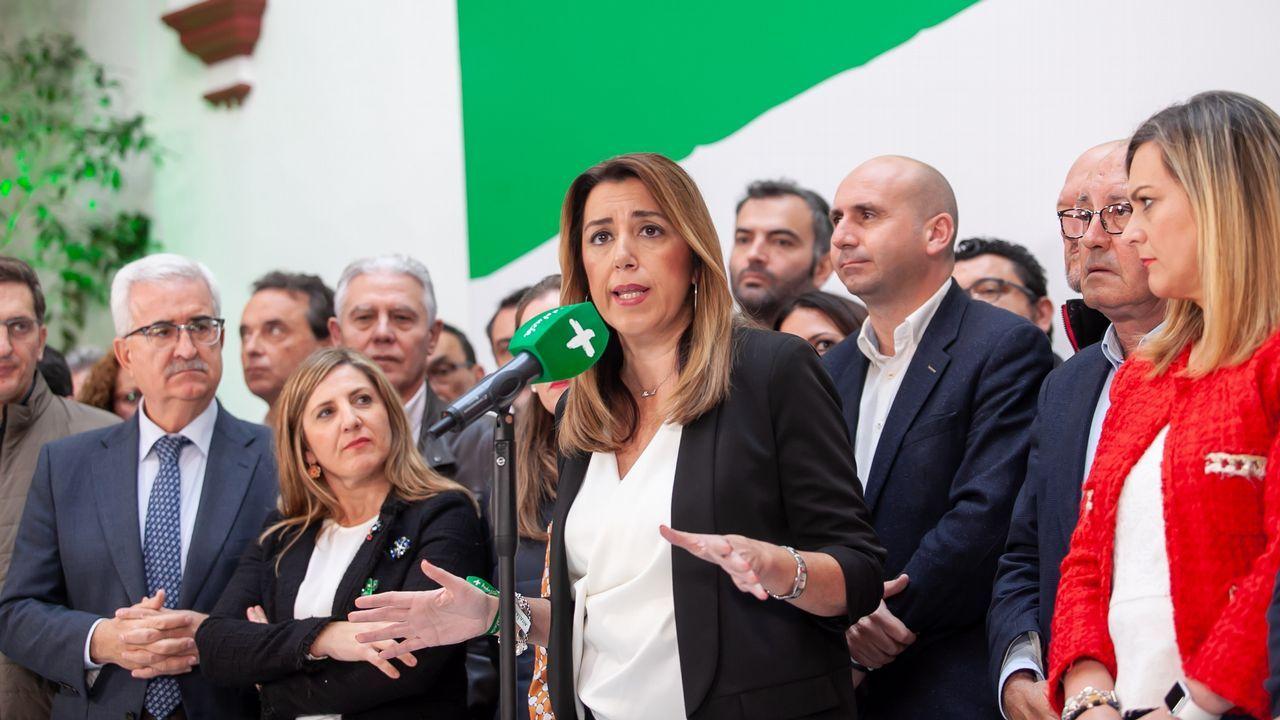 Susana Díaz no se plantea dimitir.Feijoo junto a los presidentes autonómicos de Andalucía y Asturias