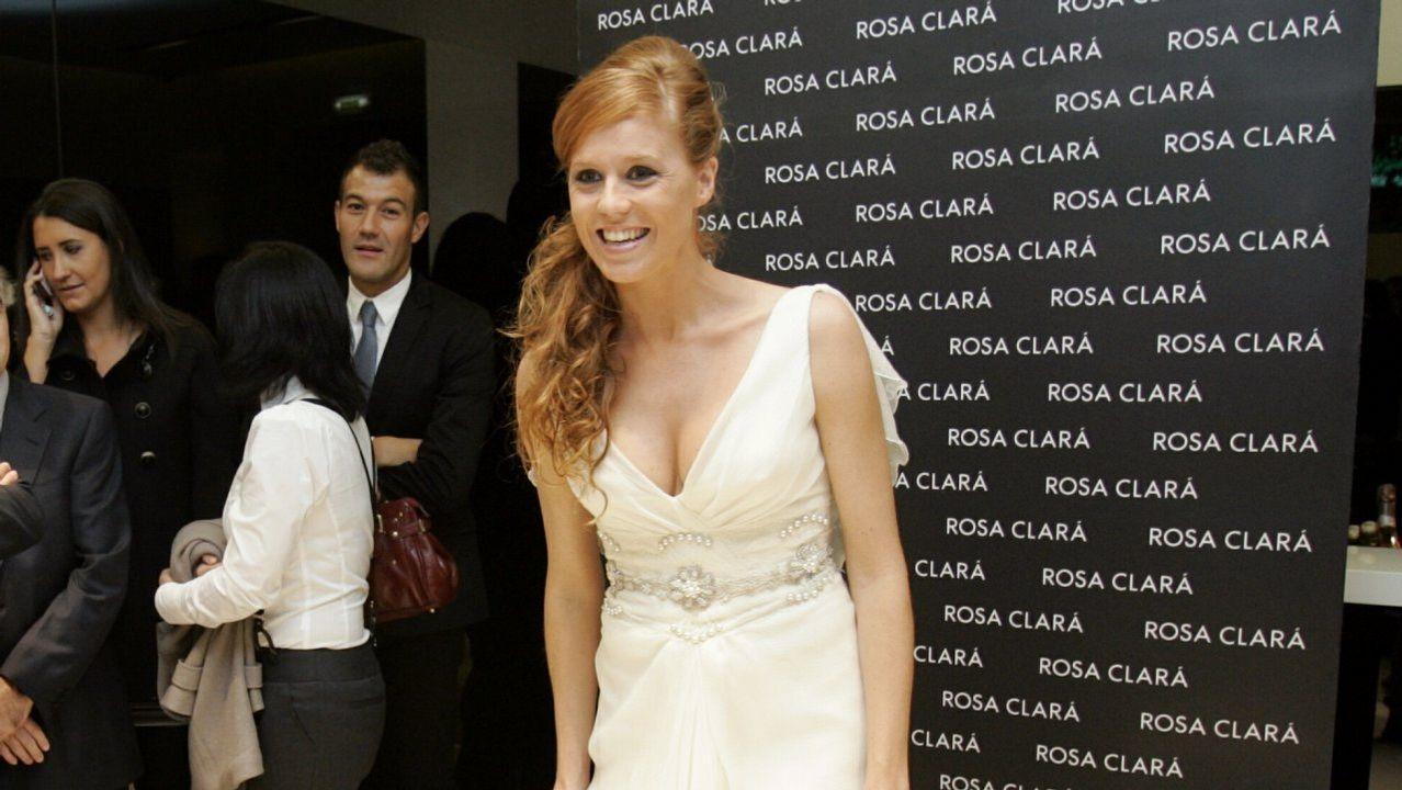 Vestida de novia en el 2009 en Ourense