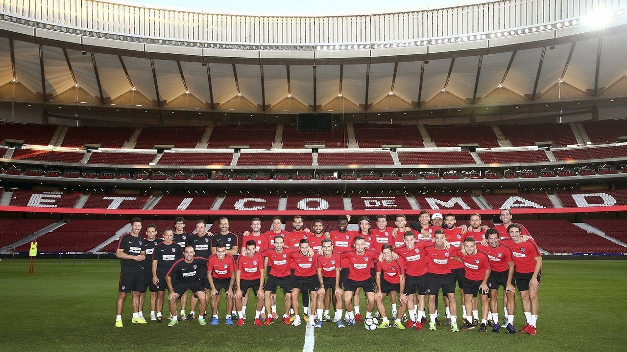 Así es el nuevo estadio del Atético de Madrid.Los hermanos en el Parque San Francisco