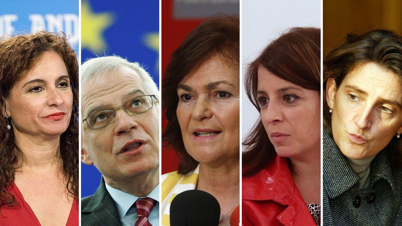 Las caras del equipo de Gobierno de Pedro Sánchez.