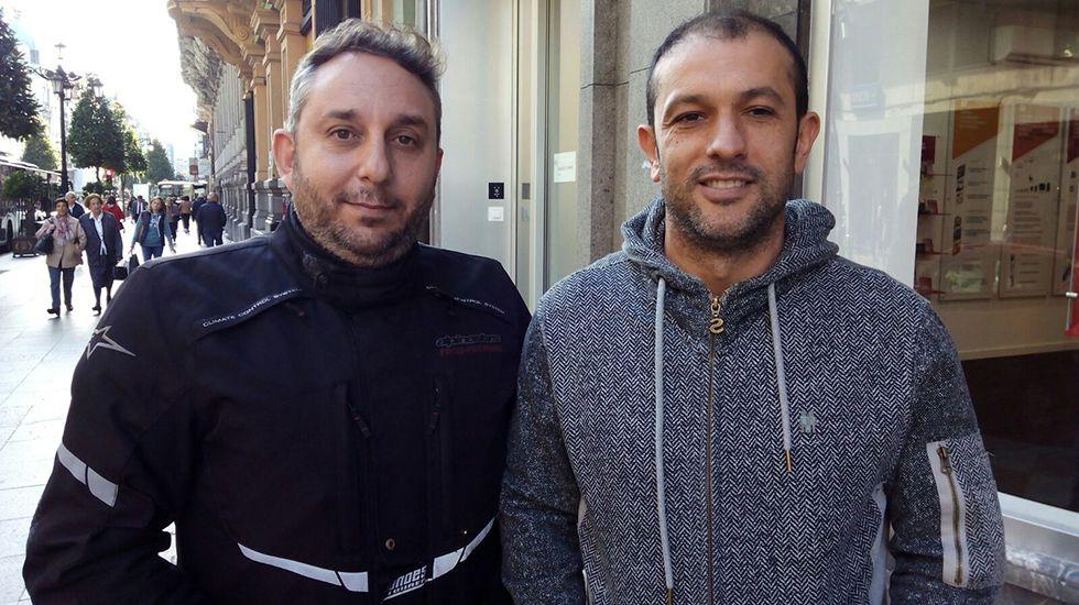 Manuel Sordo (izquierda) y Gabriel García (derecha), representantes de CSI en Bomberos