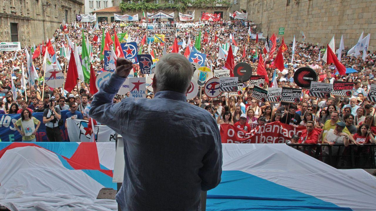 Celebración de En Marea y de Anova por el Día de Galicia.Francisco García, alcalde de Allariz