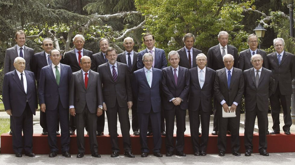 .Reunión de los empresarios del Consejo de Competitividad en La Moncloa, en mayo del 2015