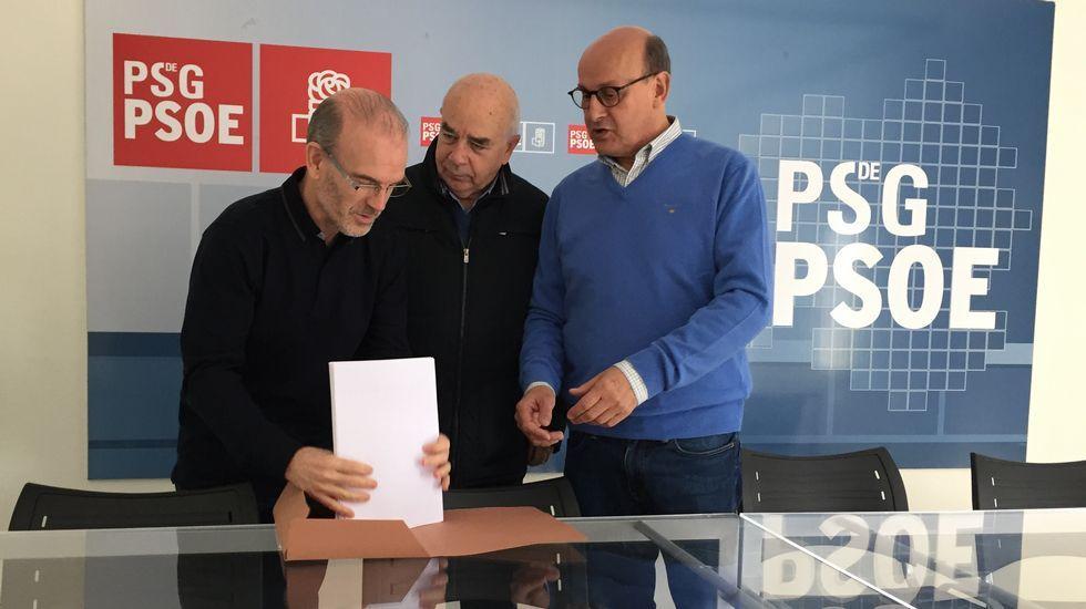 Elena de Prada y Vázquez Barquero presentan avales para las primarias del PSOE.Imágenes de la reunión de Podemos Asturias y el Gobierno regional durante la negociación de los Presupuestos de 2019