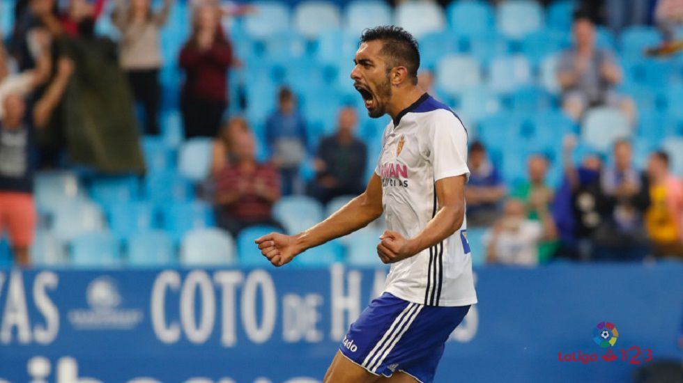 Borja Iglesias celebrando un gol