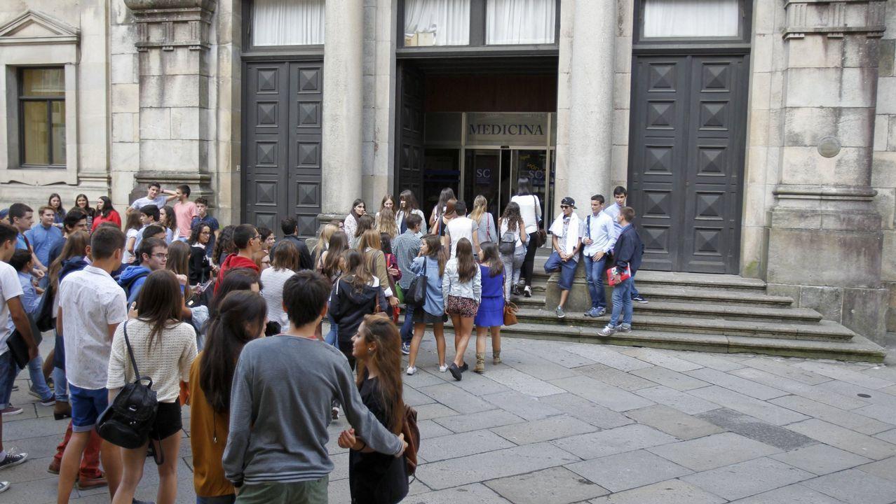 Alumnos del IES Río Cabe en una imagen de archivo