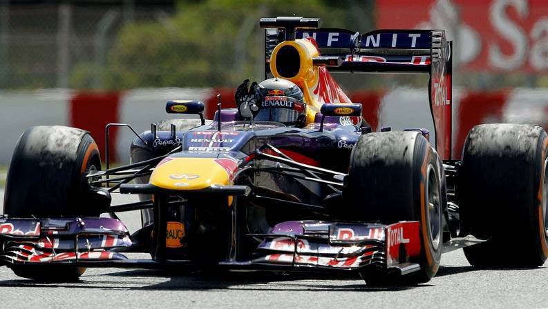 Detalle del Red Bull de Vettel al final del GP de España
