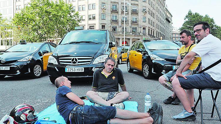 .En Barcelona volvieron a atascar el centro