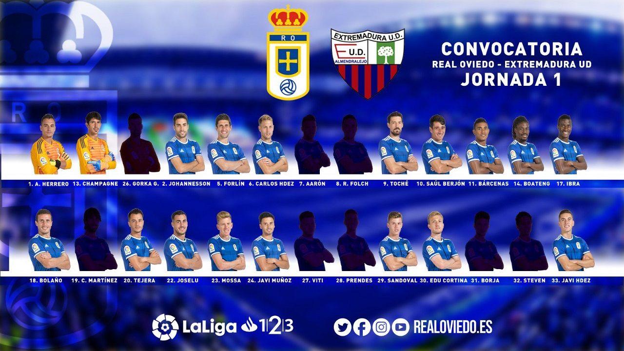 Convocatoria del Real Oviedo para el partido ante el Extremadura UD