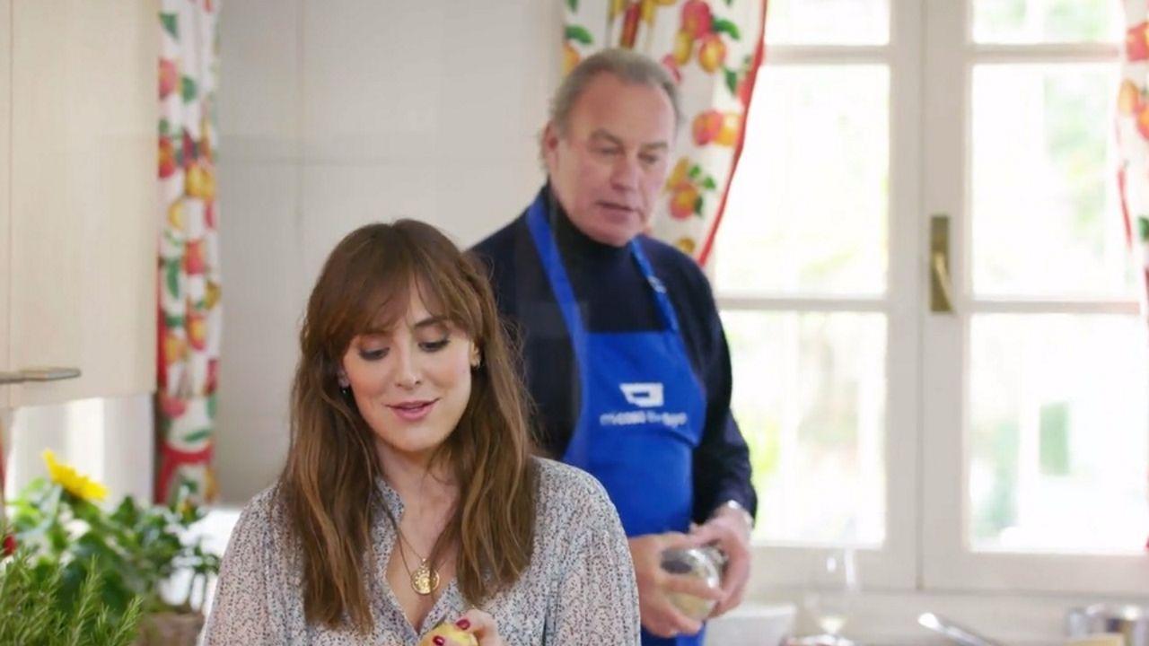 Tamara cocinó con Bertín Osborne en el programa «Mi casa es la tuya»
