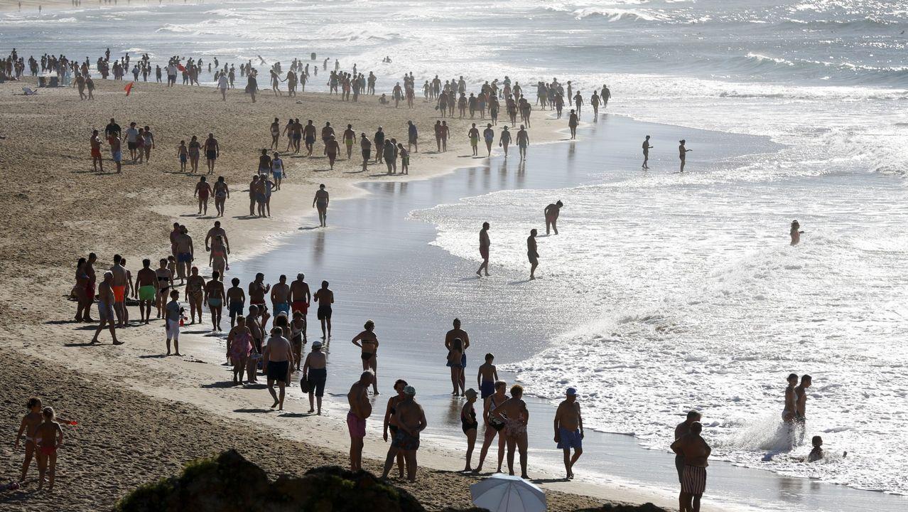 La playa de A Frouxeira es una de las más concurridas de la comarca.