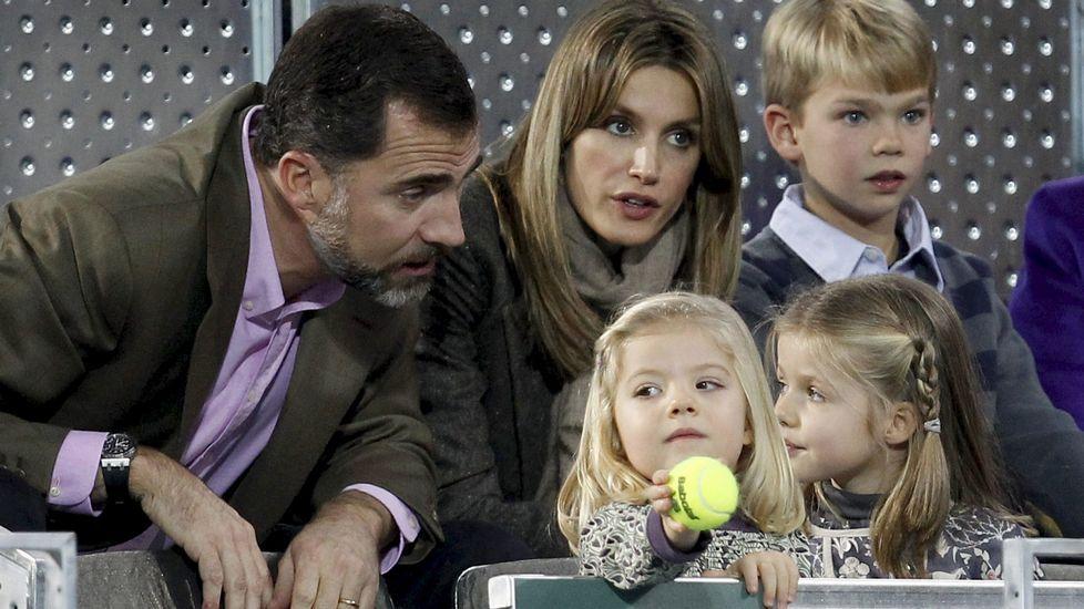 En un partido de tenis en diciembre del 2010.