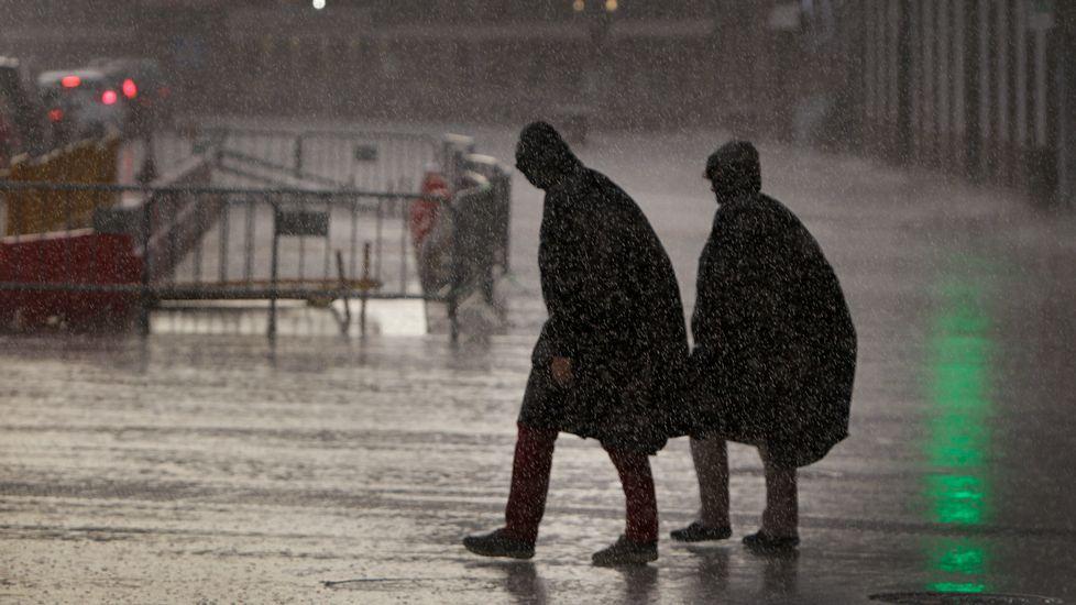 Lluvia y viento en toda Galicia