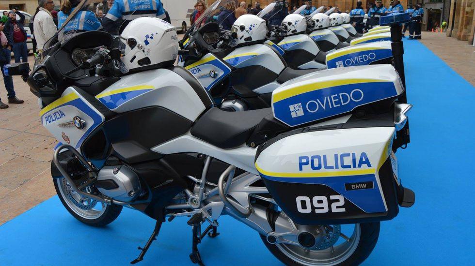 Presentación de las nueva flota de motos del Ayuntamiento de Oviedo.Presentación de las nueva flota de motos de la Policía Local