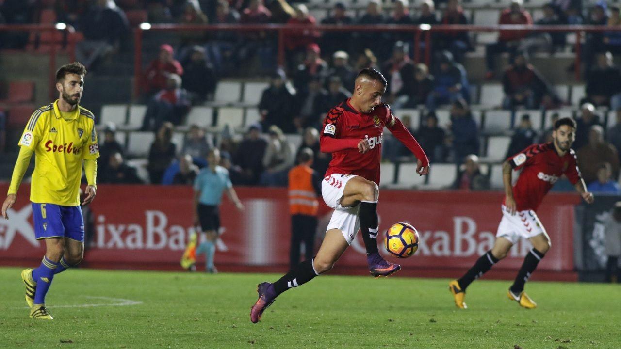 Sergio Tejera Nastic Tarragona Real Oviedo.Sergio Tejera, durante un encuntro frente al Cadiz