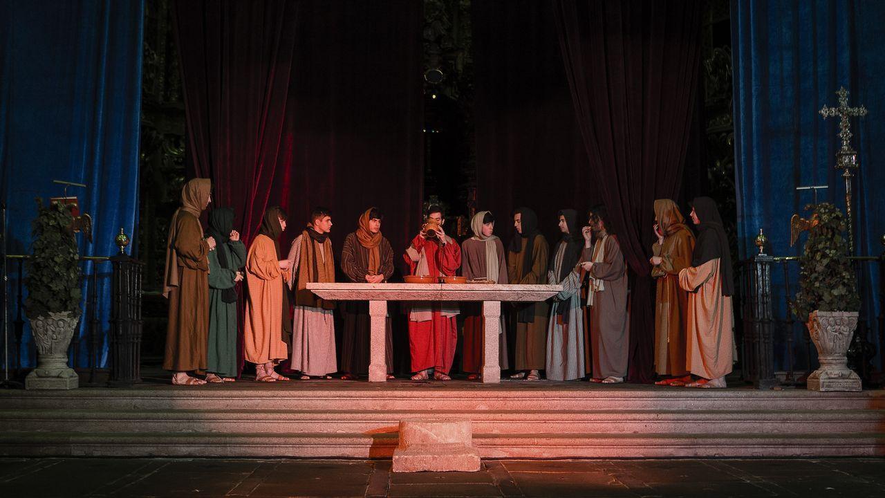 Representación de la Pasión de Cristo en la iglesia del Monasterio de San Salvador en Celanova