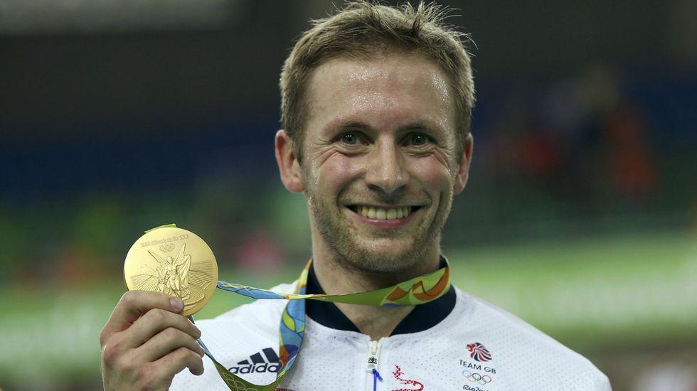El ciclista Jason Kenny se llevó tres oros de Río en keirin y velocidad individual y por equipos