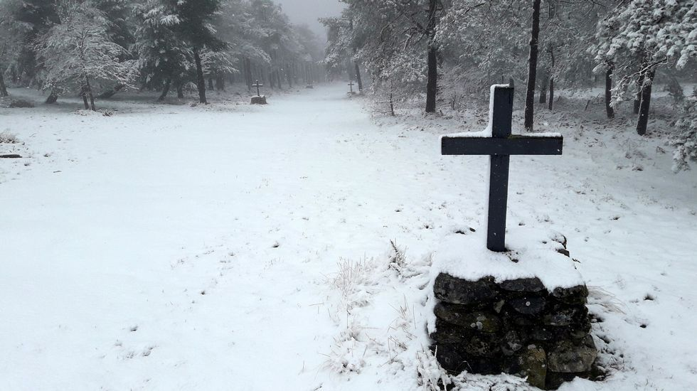 Paisajes nevados de O Courel y A Pobra do Brollón