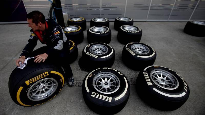 El Gran Premio de Mónaco arranca motores.Detalle del Red Bull de Vettel al final del GP de España