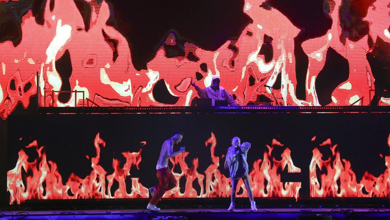 El frenesí de Die Antwoord conquistó a los asistentes a O Son do Camiño