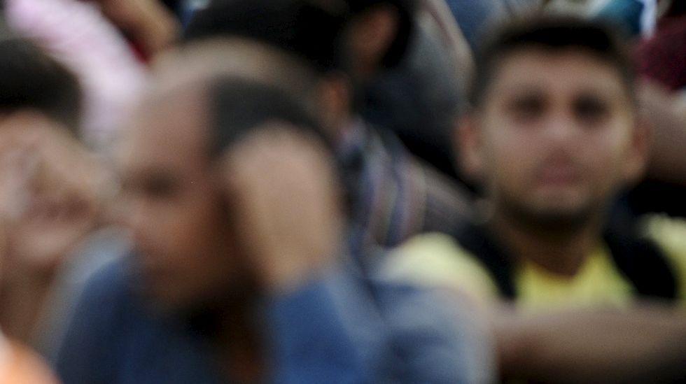 Imagen de un grupo de refugiados llegados ayer a Austria