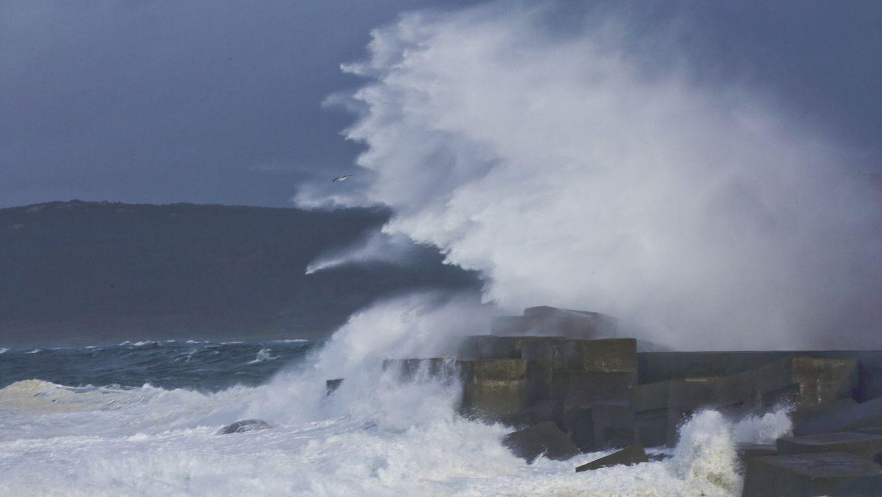 Helena se vistió de oleaje en la Costa da Morte: ¡mira estas imágenes!